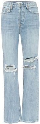 GRLFRND Mica distressed high-rise jeans