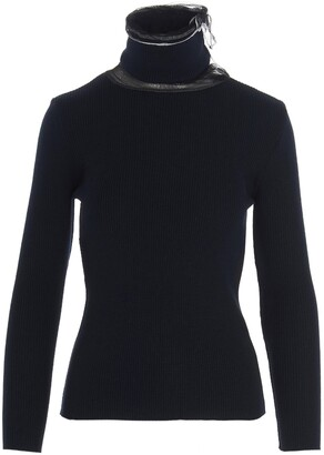 Y/Project Tulle-Detailed High Collar Sweater