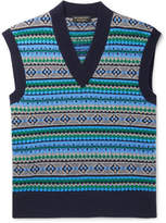 Burberry Runway Fair Isle Wool-Blend Sweater Vest