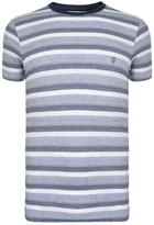 French Connection Striped Logo T Shirt