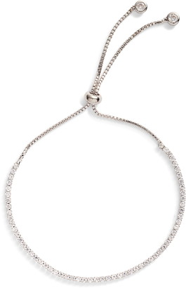 Sterling Forever Cubic Zirconia Slider Bracelet