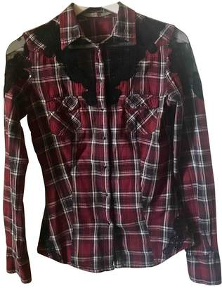GUESS Burgundy Cotton Tops