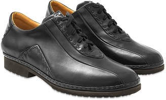 Pakerson Black Italian Hand Made Calf Leather Lace-up Shoes