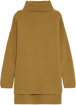 Joseph Oversized Ribbed Merino Wool Turtleneck Sweater