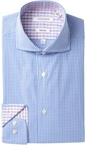 Isaac Mizrahi Gingham Slim Fit Dress Shirt