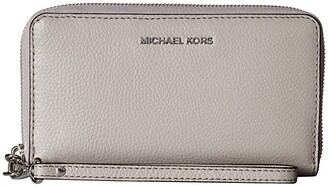 MICHAEL Michael Kors Large Flat Multifunction Phone Case (Pearl Grey) Cell Phone Case