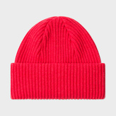 Paul Smith Men's Red Cashmere Beanie Hat