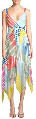 Tanya Taylor Goldie Colorblock Stripe Maxi Dress