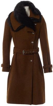 Bouchra Jarrar Brown Wool Coats