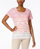 Karen Scott Striped Seashell-Print Top, Created for Macy's