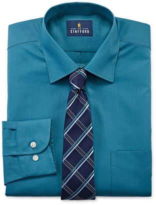 STAFFORD Stafford Men's Big and Tall Dress Shirt and Tie Set