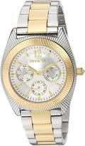 Invicta Women's 'Angel' Quartz Stainless Steel Casual Watch, Color:Two Tone (Model: 23752)