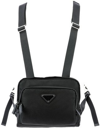 Prada Logo Plaque Torso Shoulder Bag