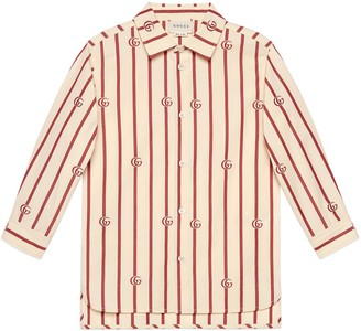 Gucci Children's Double G striped shirt