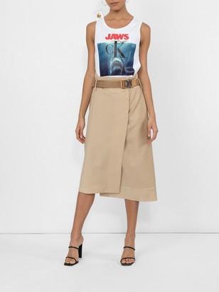 Calvin Klein Jaws Logo Cotton Tank Top