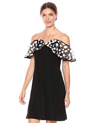 MSK Women's Illusion Neck Dress