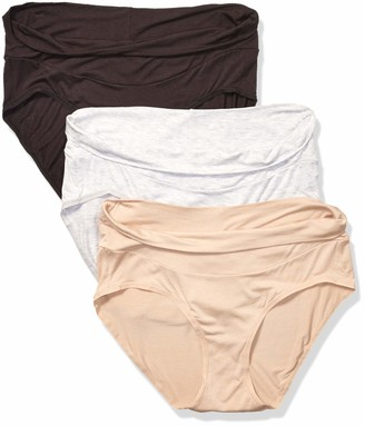 Playtex Women's Maternity Fold Down Modern Brief Panties 3-Pack