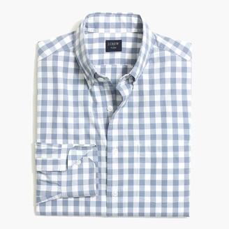 J.Crew Gingham untucked flex casual shirt