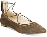 INC International Concepts Women's Zachh Lace-Up Flats, Only at Macy's