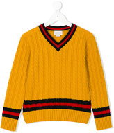 Gucci Kids cable knit jumper