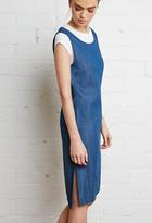 Forever 21 FOREVER 21+ Zippered-Back Denim Dress