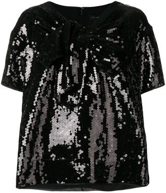 Marc Jacobs sequined v-neck T-shirt