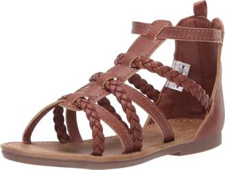 Carter's Girls' Eliana Zipper Gladiator-Style Sandal