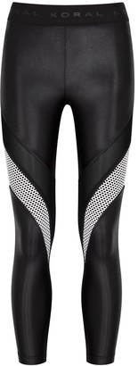 Koral Activewear Frame jersey and mesh leggings