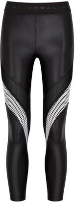 Koral Activewear Frame Jersey And Mesh Leggings