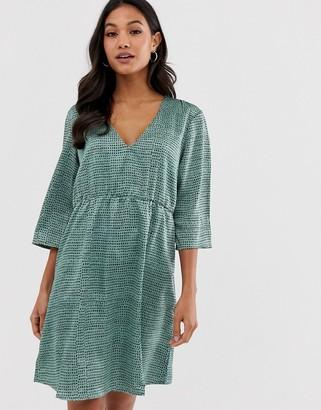 Vila textured smock dress