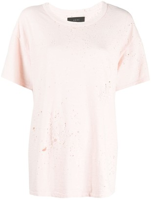 Amiri Shotgun distressed loose-fit T-shirt