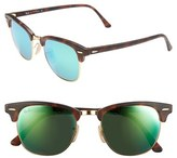 Ray-Ban Women's 'Clubmaster' 51Mm Sunglasses - Blue Mirror