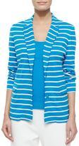 Joan Vass Striped Two-Button Jacket, Petite