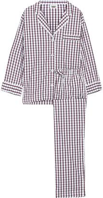 Sleepy Jones Marina Checked Cotton-poplin Pajama Set