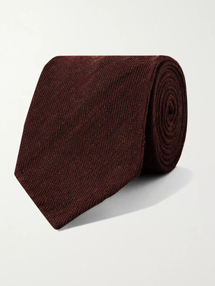 Rubinacci 8cm Melange Wool And Silk-Blend Tie