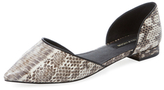 Ava & Aiden Pointed-Toe D'Orsay Flat