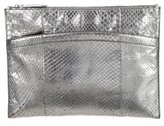Reed Krakoff Metallic Snakeskin Clutch