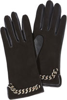 Karen Millen Chain Detail Gloves - Black