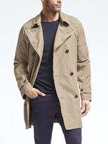 Banana Republic Lightweight Double-Breasted Trench