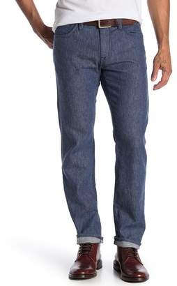 34 Heritage Courage Straight Leg Linen Blend Jeans (Indigo Linen Denim)