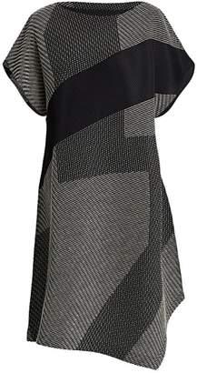 Issey Miyake Sashiko Pleats Short Sleeve Dress