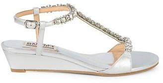 Badgley Mischka Yadira Embellished Wedge Sandals