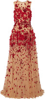 Zuhair Murad - Embellished Tulle Gown - Beige
