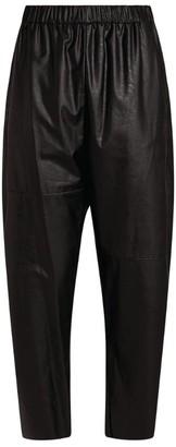 MM6 MAISON MARGIELA Wide Faux Leather Sweatpants