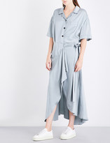 Burberry Emily tie-waist silk-satin shirt dress