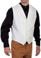 Scully Scuy Od West Vest Mens Paisey Forma Poyester RW093