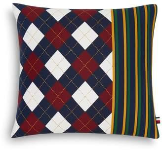 """Tommy Hilfiger Argyle Stripe Decorative Pillow, 18"""" x 18"""""""