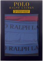 Polo Ralph Lauren 3 Pack Contrast Waistband Trunks