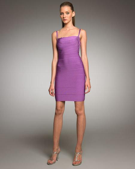Herve Leger Spaghetti-Strap Bandage Dress