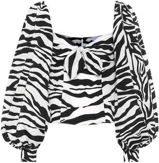 ATTICO Eva zebra-print blouse